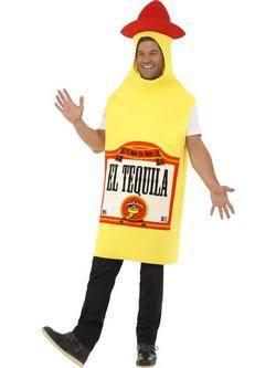 Sárga Tequila Üveg Felnőtt Jelmez