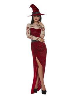 Sátáni Boszorkány Női Jelmez Halloweenre
