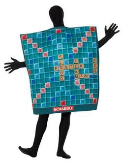 Scrabble Tábla Felnőtt Jelmez