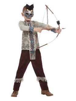 Sötét Szellem Harcos Kisfiú Jelmez Halloweenre