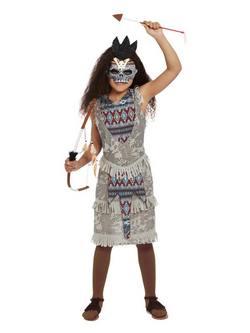 Sötét Szellem Harcos Kislány Jelmez Halloweenre