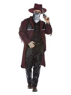 Sötét Szellem Vadnyugati Cowboy Férfi Jelmez Halloweenre