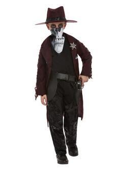 Sötét Szellem Vadnyugati Cowboy Kisfiú Jelmez Halloweenre