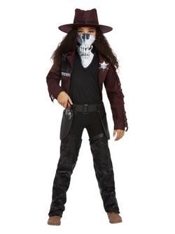 Sötét Szellem Western Cowgirl Kislány Jelmez Halloweenre