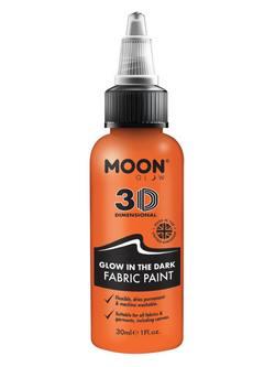 Sötétben Világító Narancssárga Szövetfesték - 30 ml