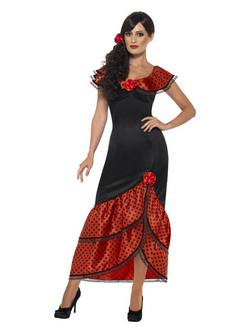Spanyol Flamenco Senorita Női Jelmez