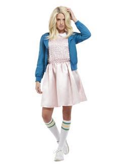 Stranger Things Sorozatból Ismert Eleven A Szupererős Kislány Női Jelmez Halloweenre