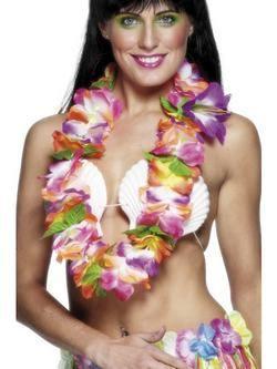 Színes Hawaii Nyakfüzér Nagy Virágszirmokkal