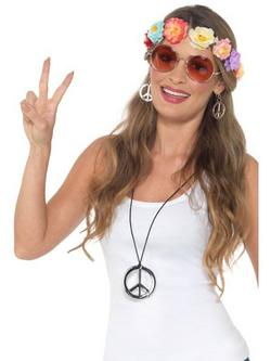 Színes Hippi Fesztivál Jelmezkiegészítő Készlet Felnőtteknek