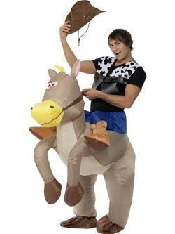 Szürke Felfújható Cowboy Férfi Jelmez