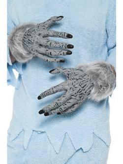 Szürke Szőrös Farkasember Kéz