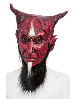 Teljes Fejet Befedő Sátán Maszk Szakállal