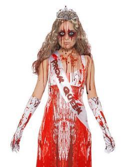 Véres Hatású Bálkirálynő Jelmezkiegészítő Készlet Nőknek