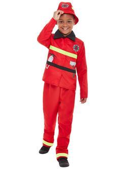 Piros Tűzoltó Kisfiú Jelmez