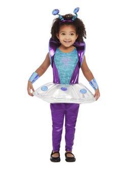 Űrlény Totyogó Kislány Jelmez Halloweenre