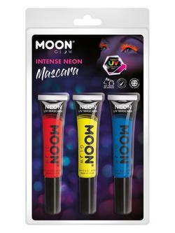 UV Neon Szempillafesték - Piros, Sárga, Kék - 3 db-os, 15 ml