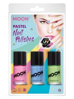 Vegyes UV Neon Körömlakk - Rózsaszín, Kék, Zöld - 3 db-os, 14 ml