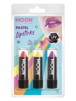 Vegyes UV Pasztell Neon Rúzs - Korall, Sárga, Lila - 3 db-os, 5 g