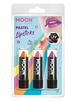 Vegyes UV Pasztell Neon Rúzs - Narancs, Rózsaszín, Lila - 3 db-os, 5 g