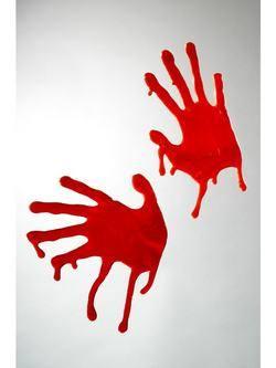 Véres Kézlenyomat Ablakdekoráció