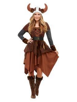 Viking Barbár Királynő Női Jelmez