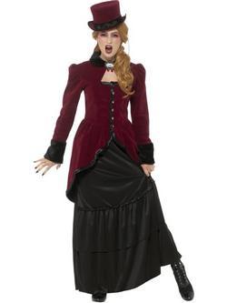 Viktoriánus Vámpír Női Jelmez