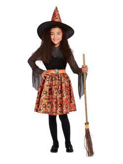Vintage Boszorkány Kislány Jelmez Halloweenre