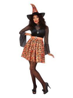Vintage Boszorkány Női Jelmez Halloweenre