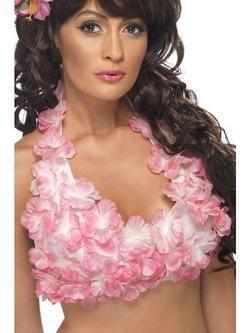 Virágos Hawaii Melltartó 2 Féle Színben - Rózsaszín és Lila