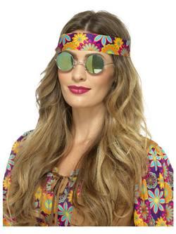 Visszatükröződő Hippi Szemüveg