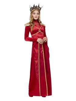 Vörös Királynő Női Jelmez Halloweenre