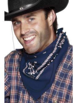 Western Stílusú Kék Cowboy Kendő