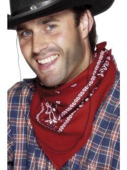Western Stílusú Piros Cowboy Kendő