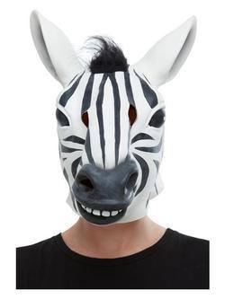 Zebra Latex Maszk