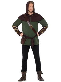 Zöld-Barna Robin Hood Jelmez Férfiaknak - XXL
