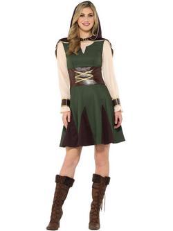 Zöld-Barna Robin Hood Jelmez Nőknek - L