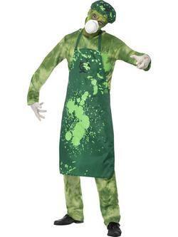 Zöld Biológiai Veszély Zombi Férfi Jelmez