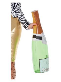 Zöld Felfújható Pezsgős Üveg - 66 cm