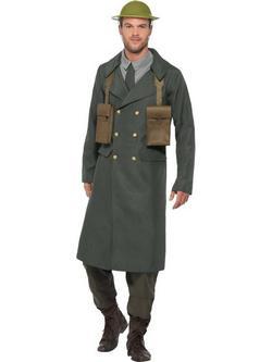 Zöld II. Világháborús Brit Hivatali Jelmez Férfiaknak - M