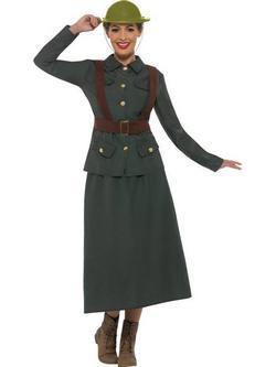 Zöld II. Világháborús Hadi Tisztviselő Jelmez Nőknek
