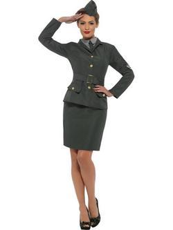 Zöld II. Világháborús Katona Jelmez Nőknek - L