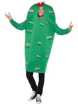 Zöld Kaktusz Jelmez Felnőtteknek Egyberészes Ruhával