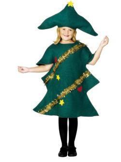 Zöld Karácsonyfa Gyerek Jelmez