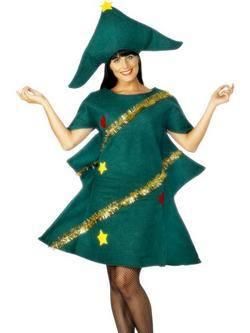 Zöld Karácsonyfa Női Jelmez