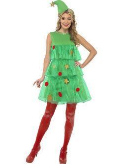 Zöld Karácsonyfa Tütü Női Jelmez
