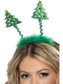 Zöld Karácsonyfás Fejdísz