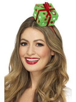Zöld Karácsonyi Ajándékdoboz Hajpánton