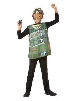 Zöld Katonai Jelmezkellék Szett Gyerekeknek