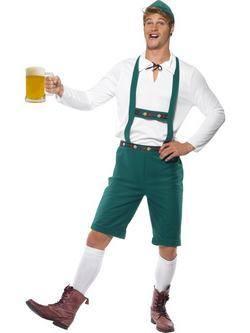 Zöld Oktoberfest Bajor Férfi Jelmez