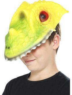Zöld-Sárga Krokodil Gyerek Maszk